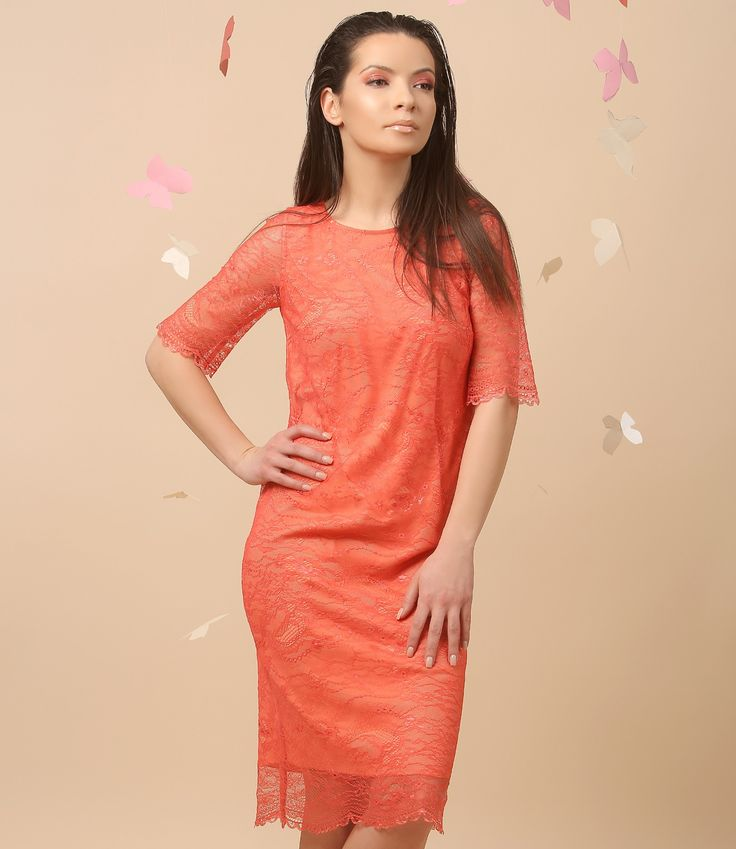 Beautiful orange, one of the color you will be wearing this spring! Spring 17 | YOKKO #color #orange #dress #party #fashion #style #yokko #woman #beauty #fun #spring17