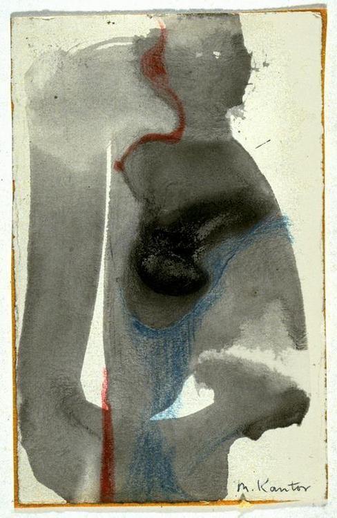 1958_2.44.jpg Morris Kantor (American 1896-1974) / Figure Study (No.3 of a group of 10 drawings)