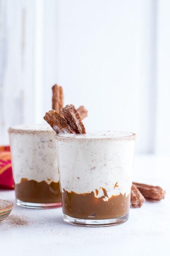 Churro Milkshakes with Dulce de Leche | http://halfbakedharvest.com