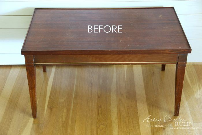 Diy Furniture : French Graphic & Decoupage Coffee Table Makeover artsychicksrule.com