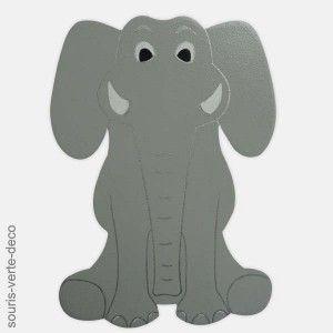 17 meilleures id es propos de d cor de cr che d 39 lephant for Decoration murale elephant
