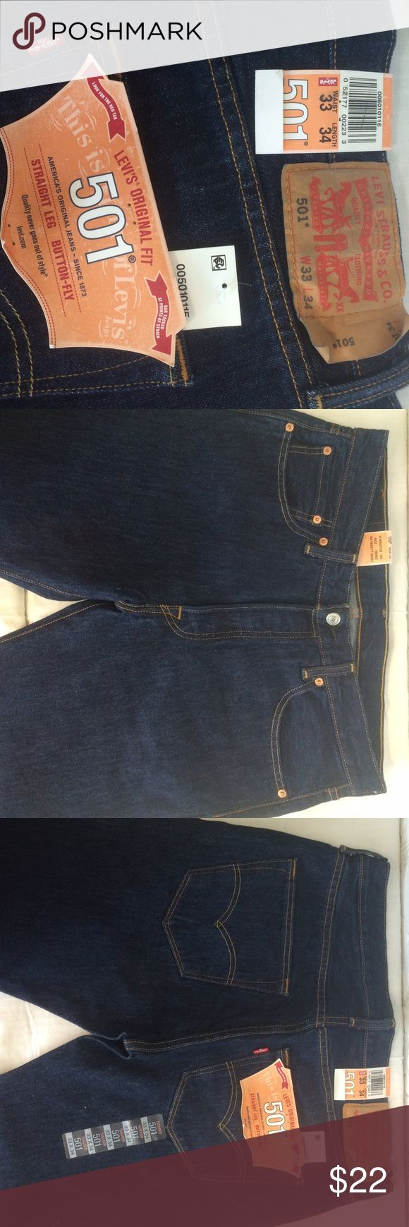Levi's 501 Button -Fly Jeans New button-fly 501s! Levi's Jeans Straight Leg