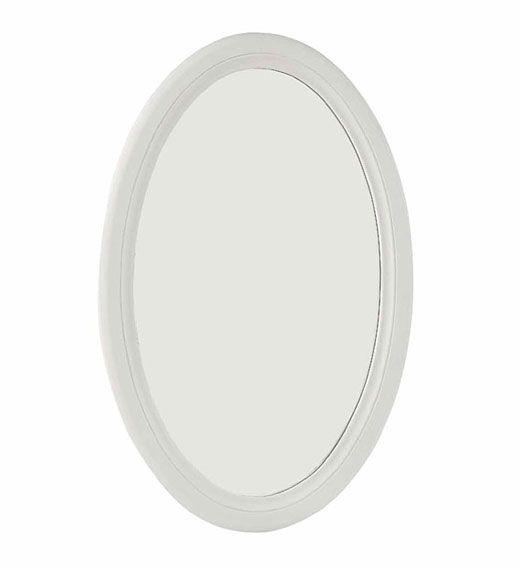Espejo ovalado Vintage Sophie   Material: DM Densidad Media   Esta linea de muebles esta realizada en DM, esta pintada con espray color blanco, fabricada semiartesanal... Eur:37 / $49.21