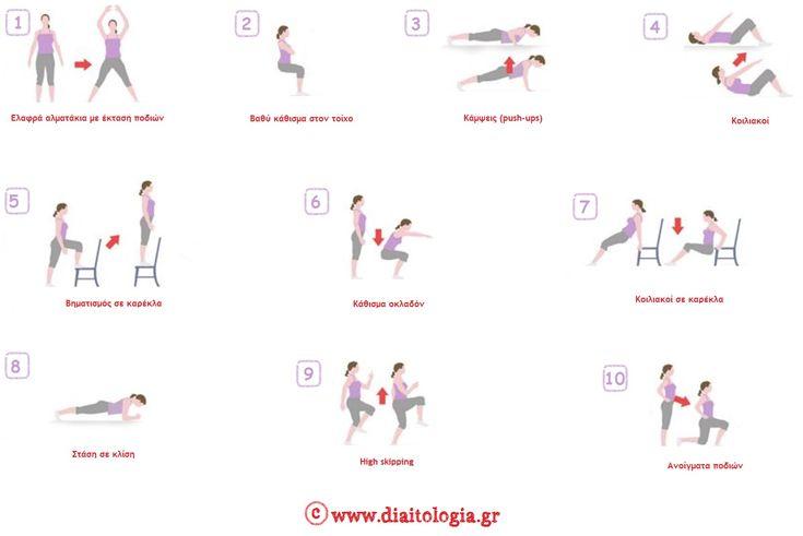 Εύκολες ασκήσεις : γυμνάστε όλο το σώμα σε 7 λεπτά! http://www.diaitologia.gr/eukoles-askiseis/