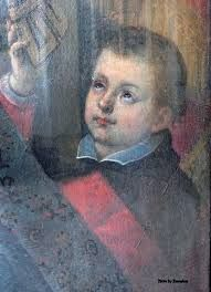 """(St Charles - as a child) Saint of the Day – St Charles Borromeo (1538-1584) Archbishop of Milan, Cardinal, Doctor of Theology, Civil and Canon Law, Reformer, Founder of Seminaries.  He is known as the """"Father of the Clergy"""".   Born Count Carlo Borromeo on the morning of Wednesday 2 October 1538 in the castle at Aron, diocese of Novara, Italy and he died at  8:30pm on 3 November 1584 of a fever at Milan, Italy.  His will named the Hospital ......."""