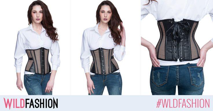O autentica fashionista include in garderoba de sezon piese dramatice care emana sex-appeal, ca acest corset brau, acum la super pret: