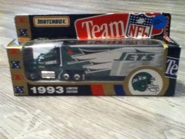 1993 Matchbox NFL Jets Hauler- New In Box #Matchbox #NewYorkJets