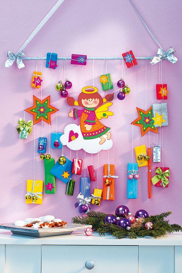 ekorativ und mit niedlichen Details: Dieser Engel bringt 24 Geschenke! Kleine Mädchen werden diesen selbstgestalteten Adventskalender lieben.