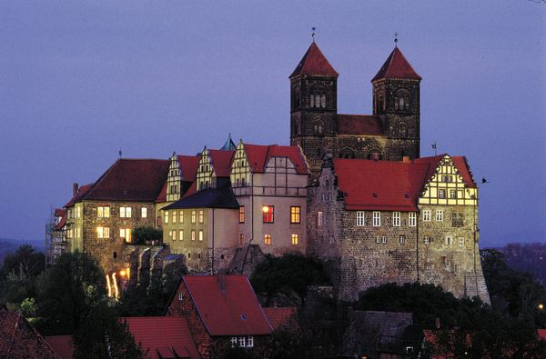 Quedlinburg, in the Harz mountains in central Germany