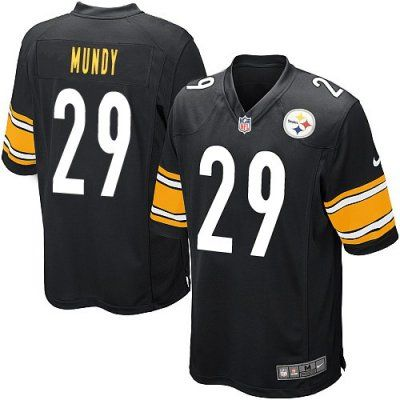 New Nike Steelers 21 Ryan Mundy Nike Elite Jersey Black NFL Jersey