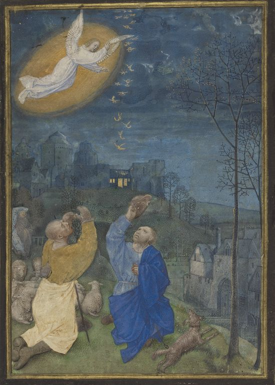 """""""Miniature from the Emerson-White Hours,"""" Master of the Houghton Miniatures, late 1470s - about 1480."""