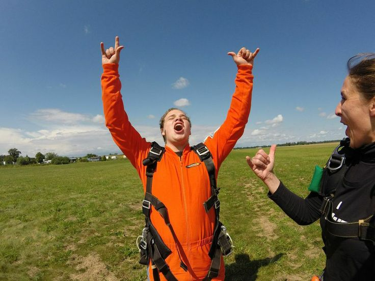 The feeling you get after Skydiving!