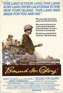 Bound for Glory. David Carradine, Ronny Cox, Melinda Dillon, Gail Strickland, Directed by Hal Ashby. 1976