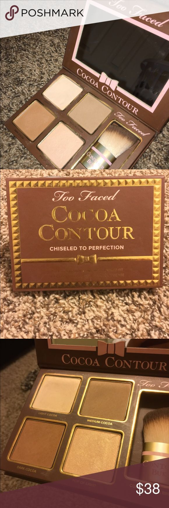 New Too faced contour kit! TWO FACED cocoa contour is basically brand new! I used two shades the two top ones and only 3times! The brush is brand new and unused. No boxes. No trades. I only accept offers through the offer button. Too Faced Makeup Bronzer
