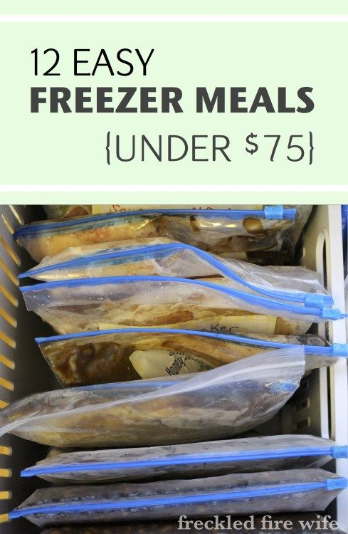 12 Budget Friendly Freezer Meals