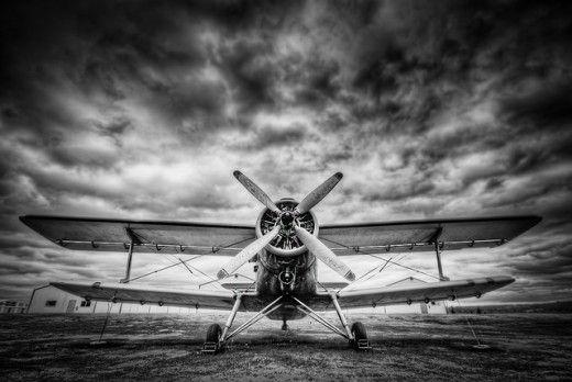 Black & white bi plane. One of my favorite planes.