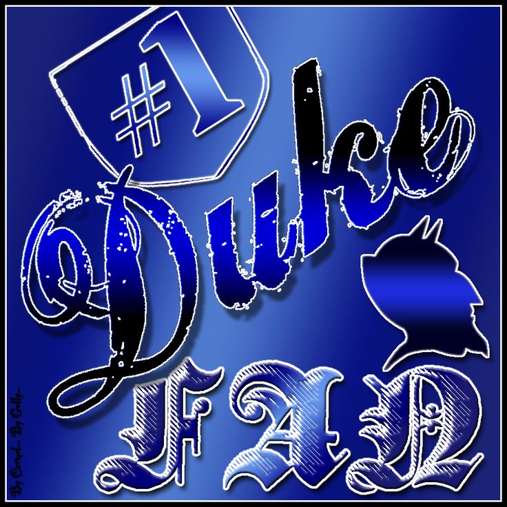 1 Duke Fan by Carmel Hall DUKE Pinterest Duke, Lets