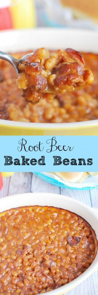 Root Beer Baked Beans - perfect for barbecues! This recipe is so delicious!