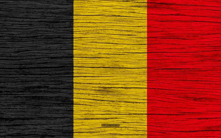 Download wallpapers Flag of Belgium, 4k, Europe, wooden texture, Belgian flag, national symbols, Belgium flag, art, Belgium
