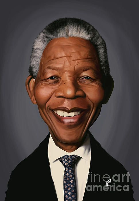 Nelson Mandela art | decor | wall art | inspiration | caricature | home decor | idea | humor | gifts