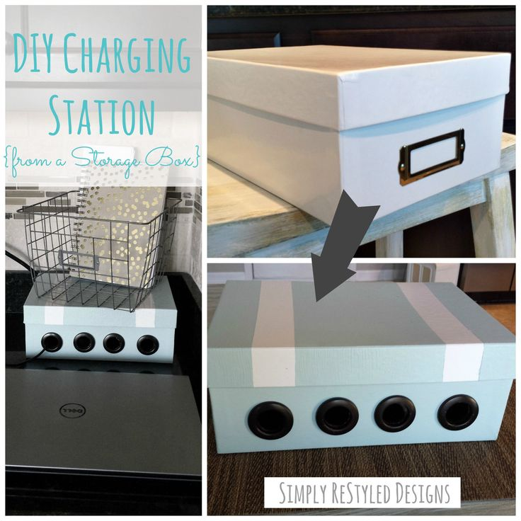 Diy Charging Station From An Old Vhs Storage Box Www Simplyrestyleddesigns