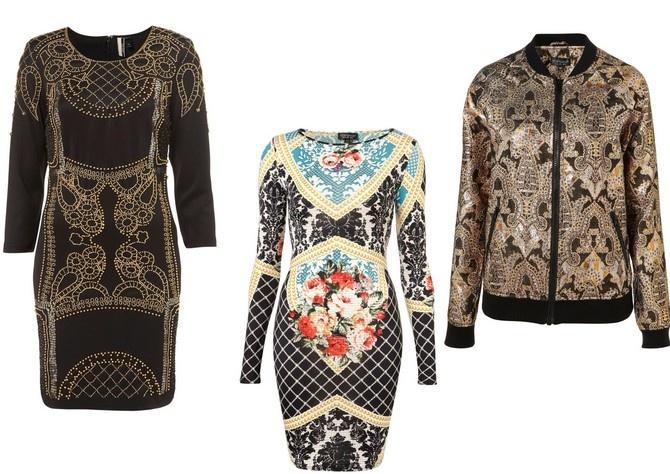 En Topshop encontramos la ropa más atrevida y especial de la tendencia barroca. Una prenda diferente es la bomber de estilo barroco no apta para chicas tímidas.