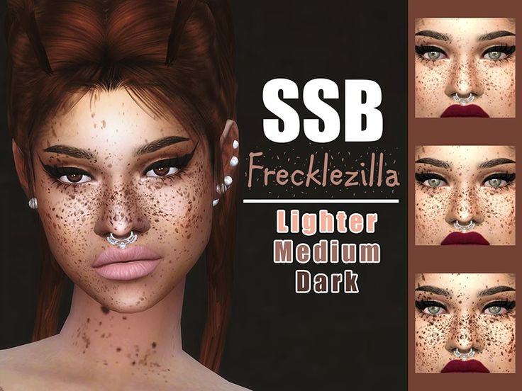 Get a load of these useful and unique freckles. They cover a bit of the back, shoulders and chest. Subtle on the body, HXC on the face.  Found in TSR Category 'Sims 4 Female Skin Details'