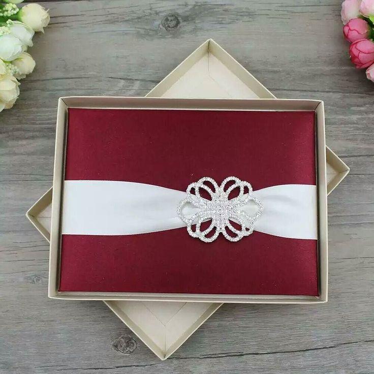 silk wedding invitations persinalized stunning box