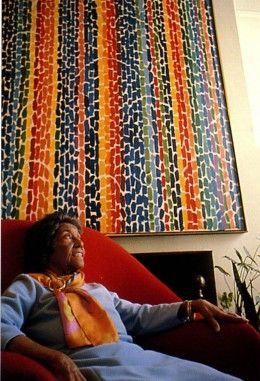 Alma Woodsey Thomas with painting
