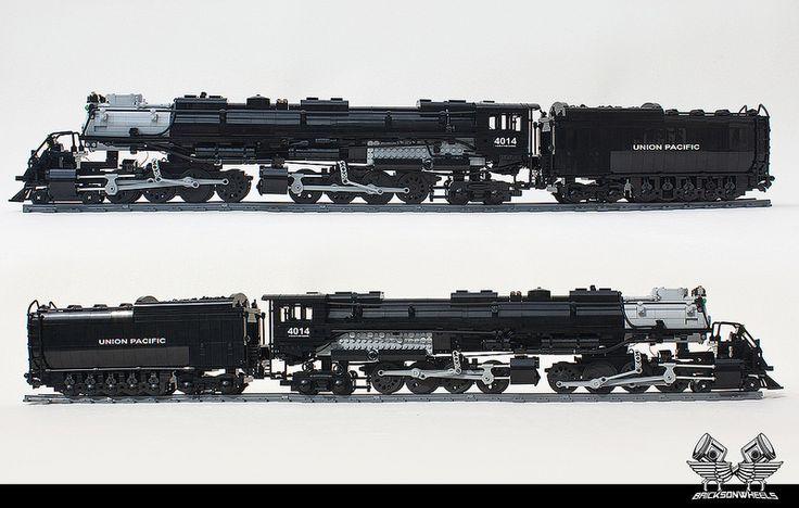 Lego Union Pacific Big Boy in 1:38 | by bricksonwheels