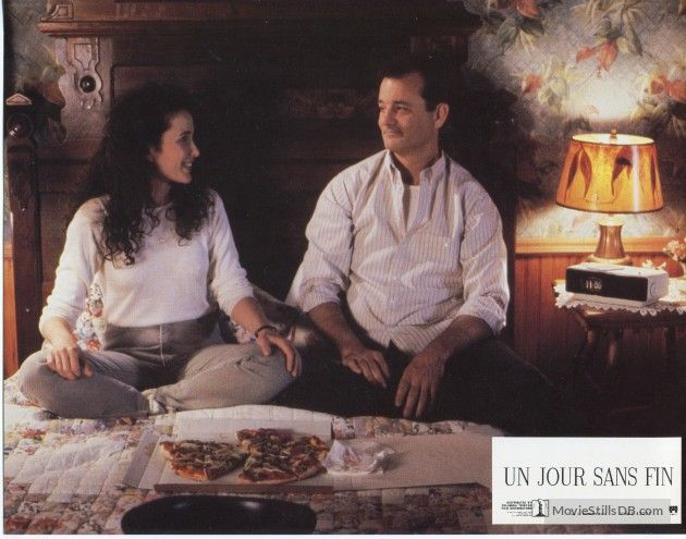 Groundhog Day - Lobby card with Bill Murray & Andie MacDowell
