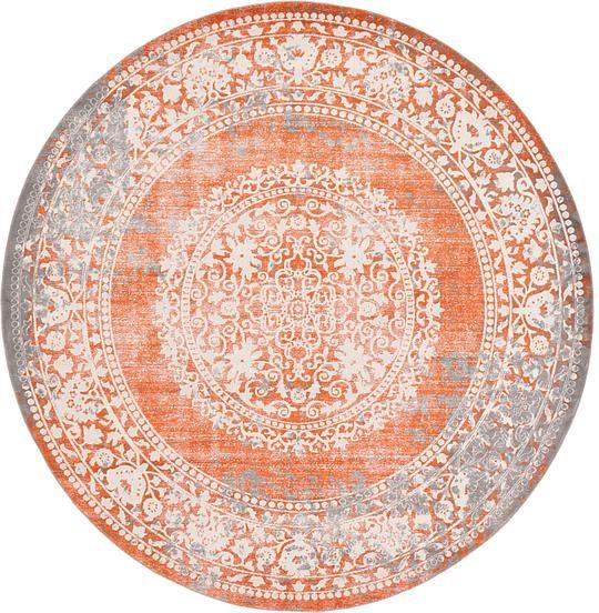 Terracotta 8' x 8' New Vintage Round Rug | Area Rugs | eSaleRugs
