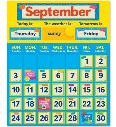 Tape It Up! Calendar Bulletin Board