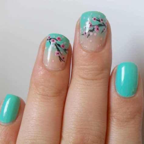 colorful summer acrylic nails 2016