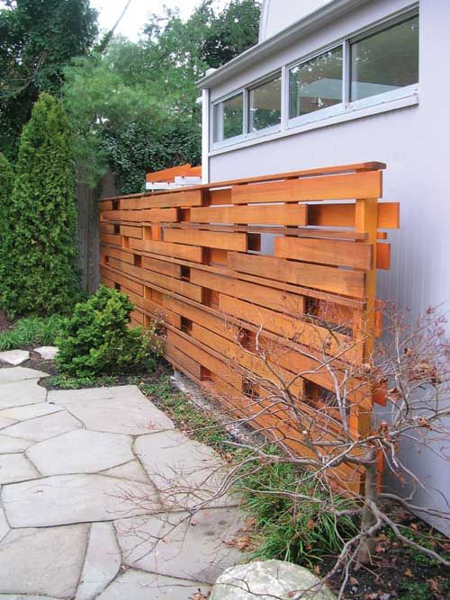 42 best ideas about feature fence feature screens on for Wood pallet privacy walls