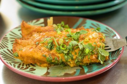 Okay, people. Let's get down to business here. Let's make enchiladas! Did you know that in addition to having an imaginary black grandpa, I actually had a great uncle from Mexico? It&#8…