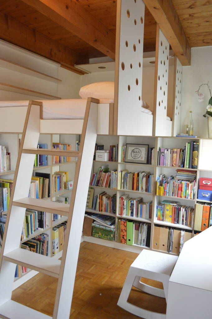 17 best Hoch hinaus - Hochbetten images on Pinterest Child room - bucherregal designs akzent interieur