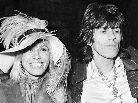 Anita Pallenberg (w/ Keith Richards) 1968.