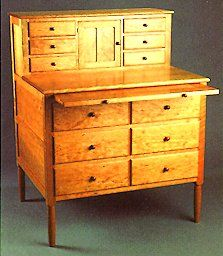 Shaker Sewing Desk -C.H. Becksvoort THE master of Shaker furniture today.  I love his artistry with wood.