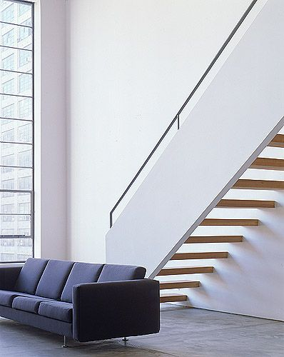 combination of two adjacent floors in a former New York factory by Fernlund + Logan