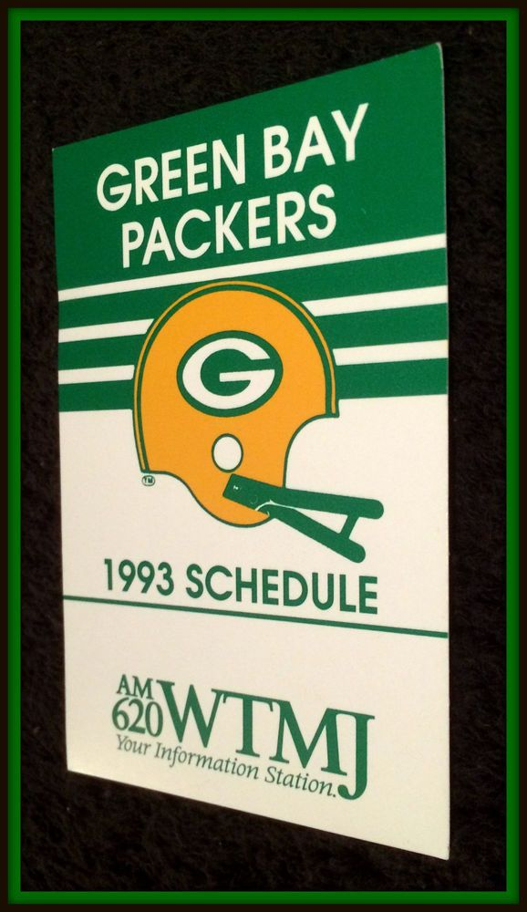 1993 GREEN BAY PACKERS WTMJ AM 620 RADIO FOOTBALL POCKET SCHEDULE FREE SHIPPING #Pocket #PocketSchedules