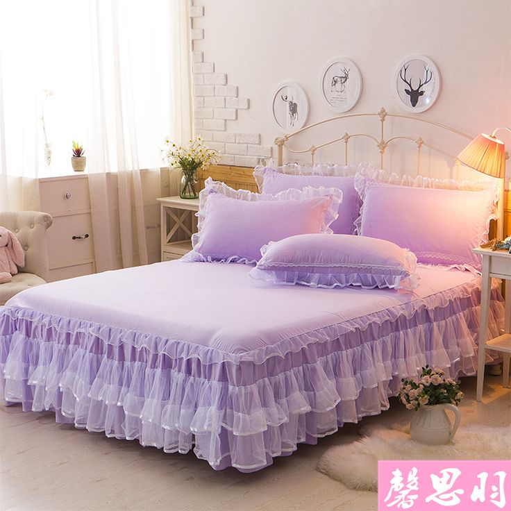 Lace Bed Skirt Bedspread Single Piece Summer Thin Section Three Mattress Set