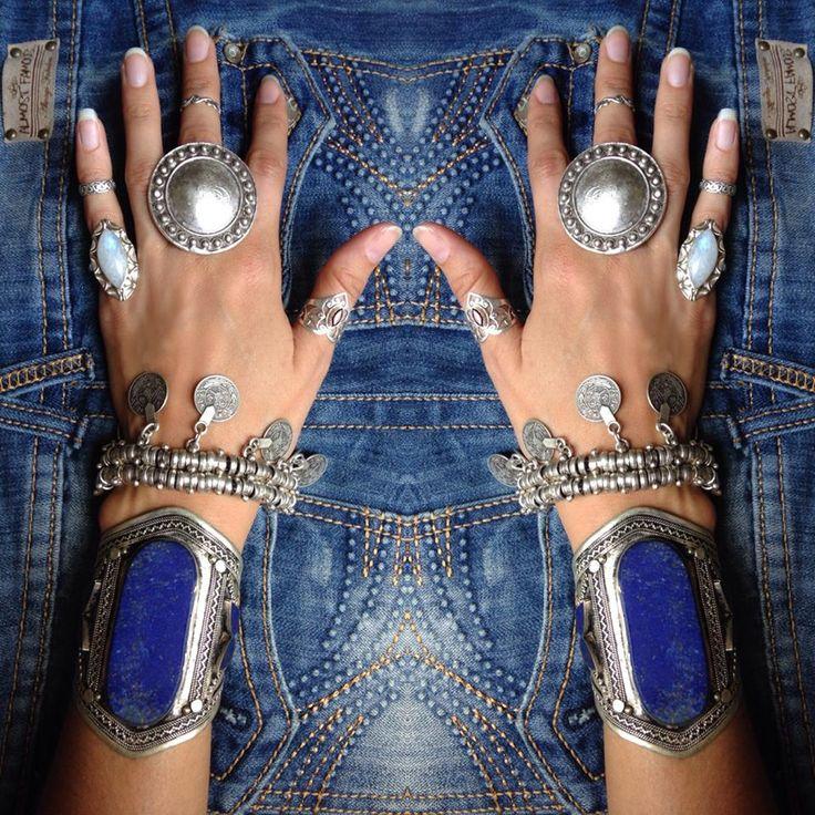 Bracelet lapis lazuli Tribal Treasure