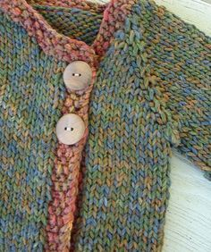 knit baby sweater - free pattern
