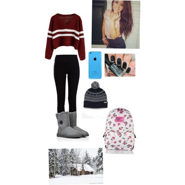 A fashion look from January 2015 featuring Pieces leggings, UGG Australia boots and Jack Wills hats. Browse and shop related looks.