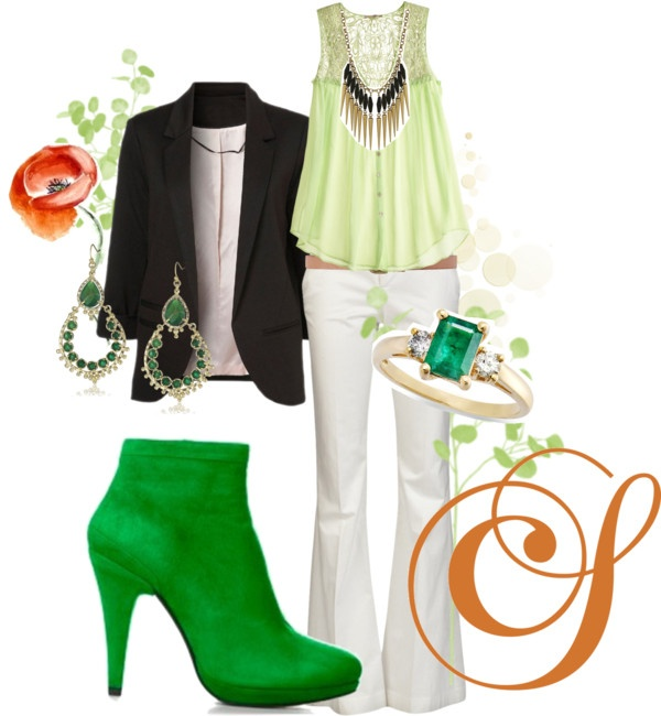 Fresh, flirty and green as grass with these stunning ColetteSol boots.