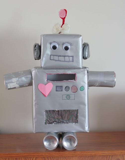robot valentine box - How To Make Valentine Boxes