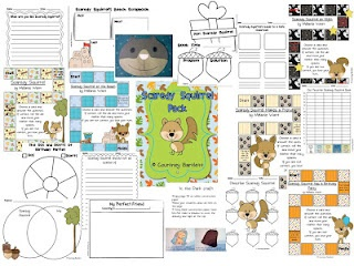 Scaredy Squirrel pack - I'm going to have to get it! Perfect for our author study at the beginning of the year!