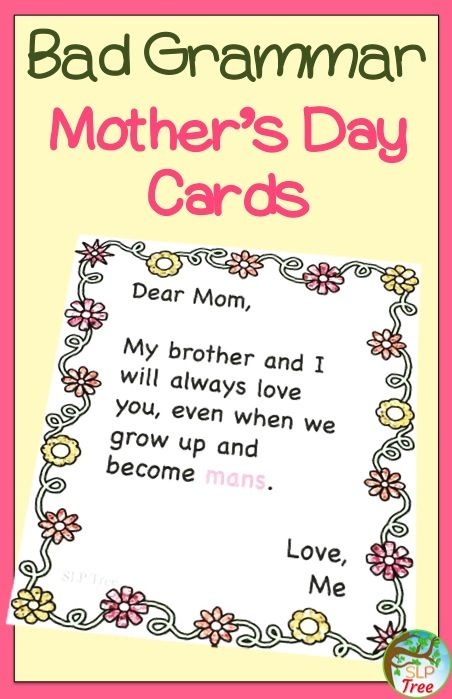 Mother knows best and Mother knows bad grammar when she sees it! Fix these grammar mistakes before Mother's Day!