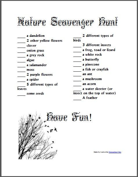 wedding scavenger hunt for children | We also did a photo nature hunt last year that you might be interested ...
